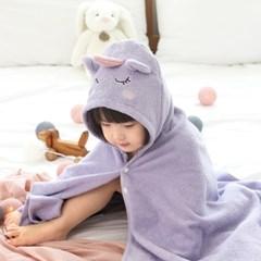 코니테일 아기목욕가운 - 유니콘 (유아비치타올 신생아수건)