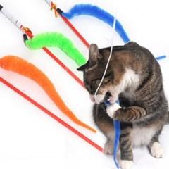 롱테일 고양이낚시대 색상랜덤 고양이장난감