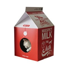 우유팩 하우스 스크레쳐 딸기우유 고양이 스크래처