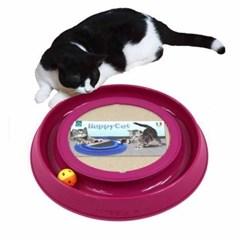 해피캣 고양이 스크레쳐 장난감 레일형토이 레드