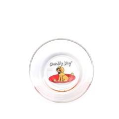 [monchouchou] Country Dog Glass Bowl_Beige Dog