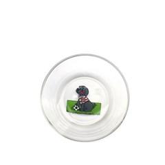 [monchouchou] Country Dog Glass Bowl_Black Dog