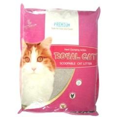 고양이 배변용품시리즈 로얄캣 모래 장미향 10kg