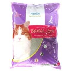 고양이 배변용품시리즈 로얄캣 모래 라벤더향 10kg