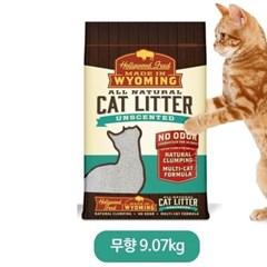 애완 고양이 용품 화장실모래 벤토나이트 무향 9.07kg