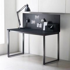 디어 1200 블랙 1인용 컴퓨터 책상 타공판 책상세트 (브라켓포함)