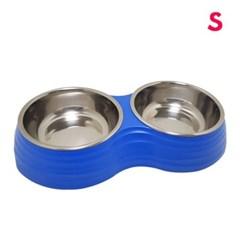 슈퍼 더블 프로스티드 리플 보울(S)블루 애견 고양이