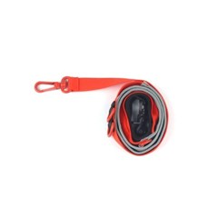 [monchouchou] Pony Webbing Twoway Leash Orange/Gray