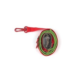 [monchouchou] Pony Webbing Twoway Leash Red/Green
