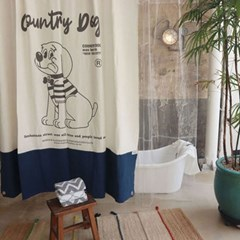 [monchouchou] Country Dog Living Curtain
