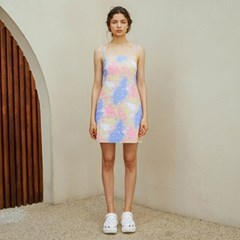 [룩캐스트] PINK AURORA TIE-DYE MINI DRESS