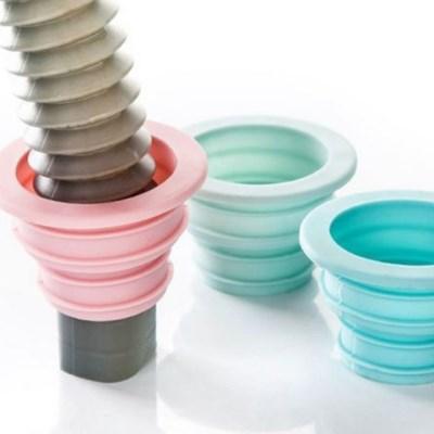 세탁기하수구트랩 배수구캡 마개 자바라