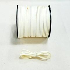 3mm 샤무드끈 상아색 90cm 세무끈 포장끈 팔찌끈