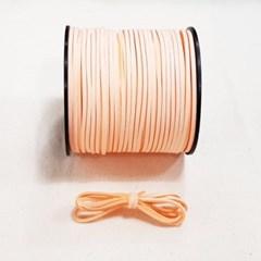 3mm 샤무드끈 살구색 90cm 세무끈 포장끈 팔찌끈