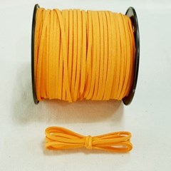3mm 샤무드끈 오렌지색 90cm 세무끈 포장끈 팔찌끈