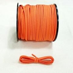 3mm 샤무드끈 당근색 90cm 세무끈 포장끈 팔찌끈