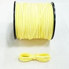 3mm 샤무드끈 레몬색 90cm 세무끈 포장끈 팔찌끈