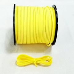 3mm 샤무드끈 노랑색 90cm 세무끈 포장끈 팔찌끈