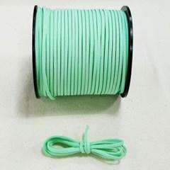 3mm 샤무드끈 민트색 90cm 세무끈 포장끈 팔찌끈