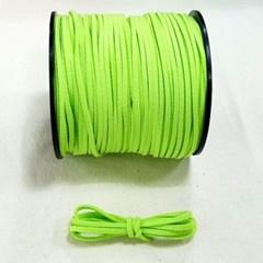 3mm 샤무드끈 라임색 90cm 세무끈 포장끈 팔찌끈