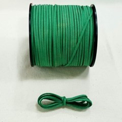 3mm 샤무드끈 그린색 90cm 세무끈 포장끈 팔찌끈