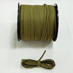 3mm 샤무드끈 카키색 90cm 세무끈 포장끈 팔찌끈