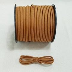 3mm 샤무드끈 카멜색 90cm 세무끈 포장끈 팔찌끈