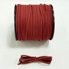 3mm 샤무드끈 와인색 90cm 세무끈 포장끈 팔찌끈