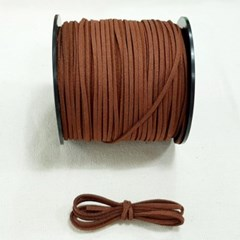 3mm 샤무드끈 브라운색 90cm 세무끈 포장끈 팔찌끈