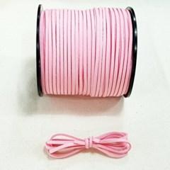 3mm 샤무드끈 연핑크색 90cm 세무끈 포장끈 팔찌끈