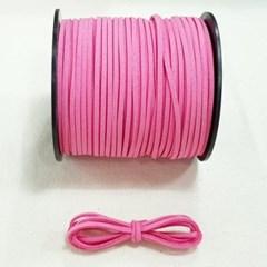 3mm 샤무드끈 핑크색  90cm 세무끈 포장끈 팔찌끈