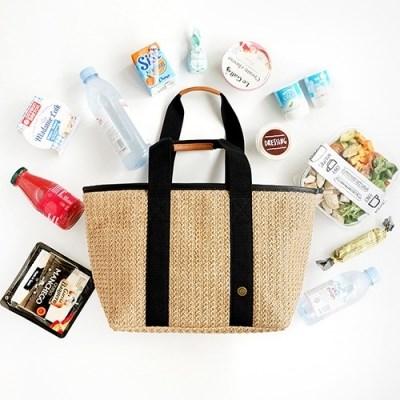 Bonjour Rattan Cooler Bag_Tan L