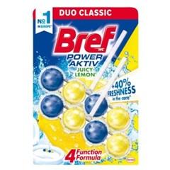 브레프 파워액티브 변기세정제 레몬 50g X 2개