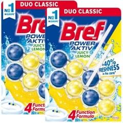 브레프 파워액티브 변기세정제 레몬 50g X 4개