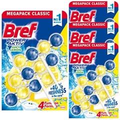 브레프 파워액티브 변기세정제 레몬 50g X 12개 (4팩)