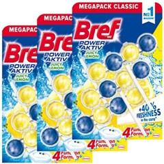브레프 파워액티브 변기세정제 레몬 50g X 9개 (3팩)