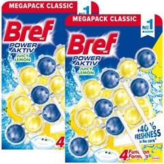 브레프 파워액티브 변기세정제 레몬 50g X 6개 (2팩)