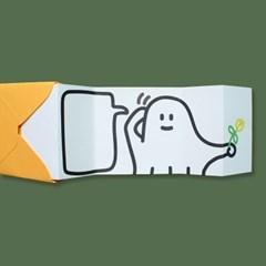 [퍼디] 꽃을 드릴게요 팝업카드 - 유령이버전