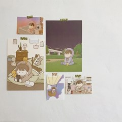 팔베개 일러스트 포스터 2종 (A4)