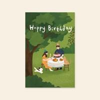 캘리엠 Happy brithday(2020) 캘리그라피 생일카드