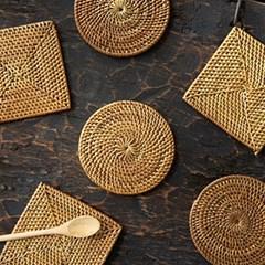라탄 찻잔 받침 티코스터(디자인선택)