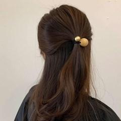 [3 color] 우드 방울 메탈 포니테일 고무줄 헤어머리끈