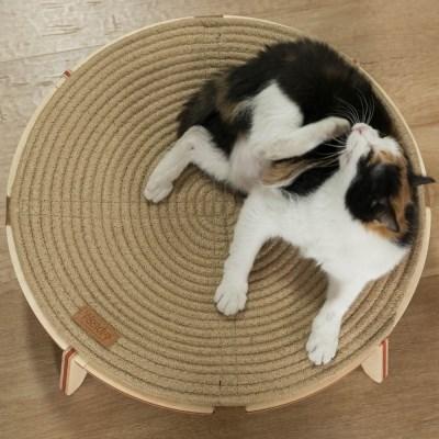 원목 고양이 스크래쳐 해먹 침대 냥이마루