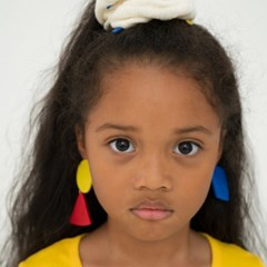 primary colors paper earring