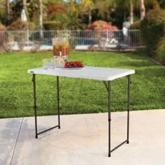 라이프타임 접이식 테이블 T4428 (높이조절 가능) 야외 실내 테이블