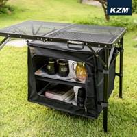 카즈미 유니온 아이언 캐비닛 K20T3U010 / 캠핑 테이블 선반 수납장
