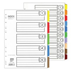[알파] 인덱스간지 I-310 종이 10분류 A4_(12654469)
