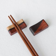 천연목 패턴 수저받침 2type