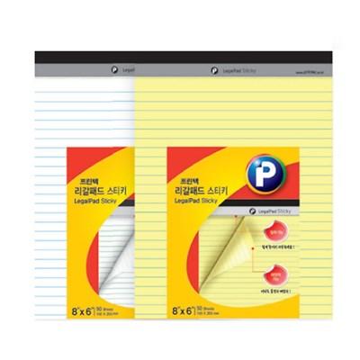 [프린텍] 리갈패드 스티키 LP150Y 노랑 150x230mm