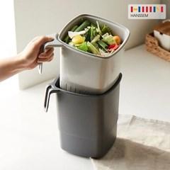 [한샘] 밀폐가 잘되는 가정용 음식물쓰레기통 4L 2종 - 처리기